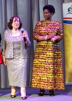 Caption: Rima Salah and Phumzile Mlambo-Ngcuka