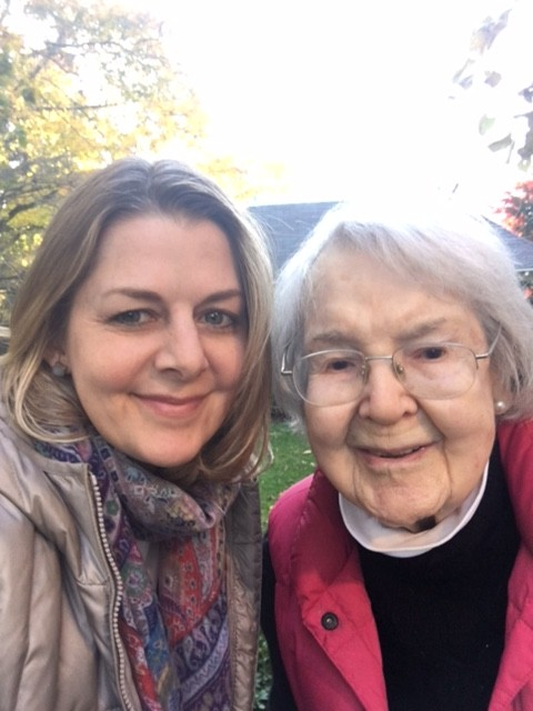WSC members Jill Sen and Mildred Persinger on the way to the polls Nov. 7