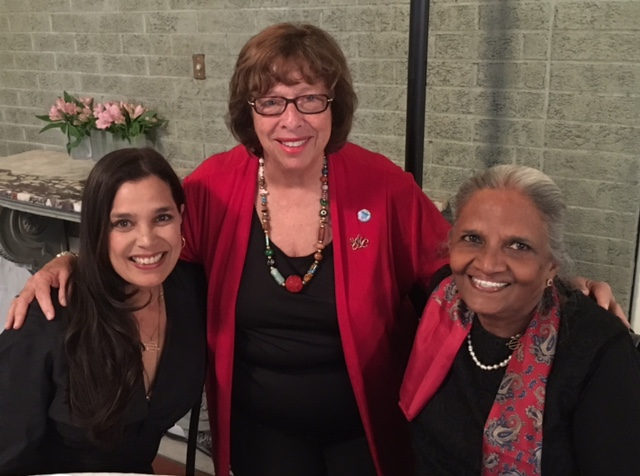 Filmmaker Kamala Lopez (left) with WSC Secretary Joelle Logue and Liz Lopez.