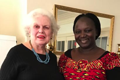 Joyce Mims and Modi Mbaraza